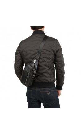 Мужской кожаный рюкзак на одну шлейку M38-8150A