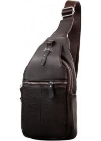 Коричневый кожаный мужской слинг - сумка на плечо M38-8151C