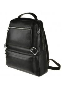Рюкзак кожаный черного цвета мужской M423A