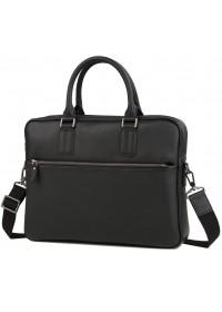 Черная сумка из натуральной кожи деловая M47-22168-1A