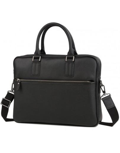 Фотография Черная сумка из натуральной кожи деловая M47-22168-1A