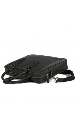 Сумка мужская черная портфель кожаный M47-22474A
