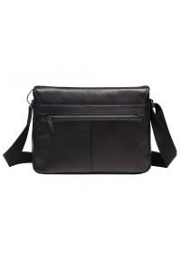 Черный мужской кожаный мессенджер M47-33037-1A