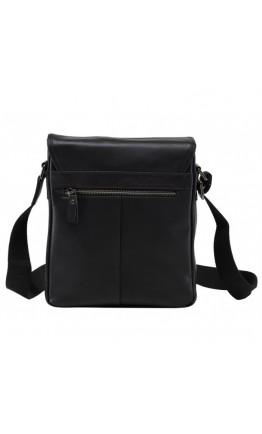 Мужской черный кожаный мессенджер M47-33037-2A