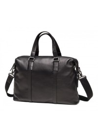 Кожаная черная сумка для ноутбука M47-33039-1A