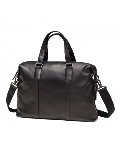 Фотография Кожаная черная сумка для ноутбука M47-33039-1A