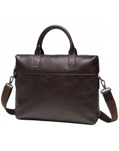 Фотография Коричневая кожаная сумка для документов M47-33041-1C