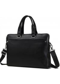 Кожаный черный портфель сумка мужская M5861-3A