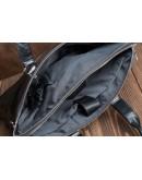 Фотография Кожаный черный портфель сумка мужская M5861-3A