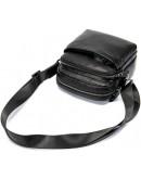 Фотография Мужская черная сумка кожаная небольшого размера M6027A