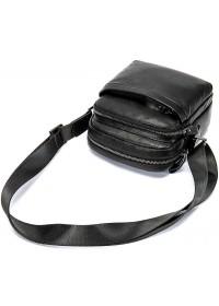 Мужская черная сумка кожаная небольшого размера M6027A