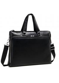 Черная мужская кожаная сумка для документов M664-4A