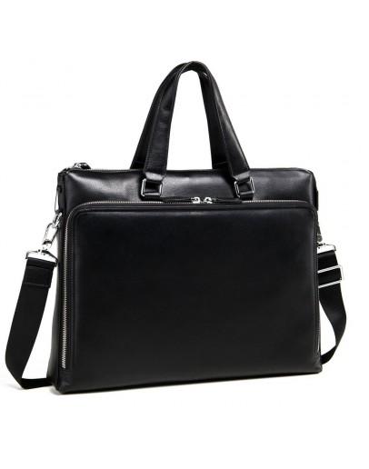 Фотография Черная мужская кожаная сумка для документов M664-4A
