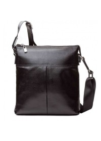 Мужской кожаный деловой черный мессенджер M6969-1A