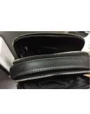 Фотография Черная сумка на плечо, мужская с ручкой M711-3A