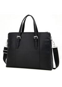 Черная мужская повседневная кожаная сумка M770-3A