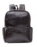 Фотография Черный кожаный мужской рюкзак на 2 лямки M7807A