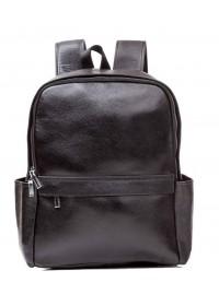 Черный кожаный мужской рюкзак на 2 лямки M7807A