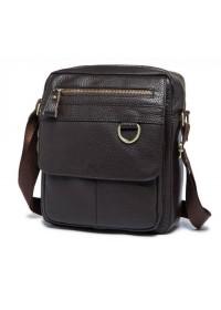 Кожаная мужская коричневая сумка M8088C