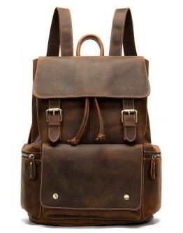 Коричневый винтажный мужской рюкзак M8507R