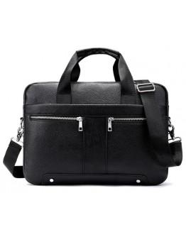 Мужская черная кожаная сумка для документов M8522A