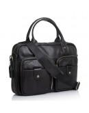 Фотография Черная кожаная сумка для ноута и документов M8539A