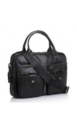 Черная кожаная сумка для ноута и документов M8539A