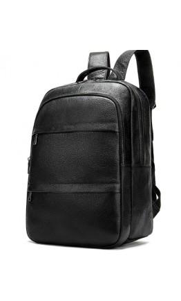Кожаный черный мужской рюкзак M8598A