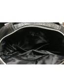 Фотография Черный кожаный мужской рюкзак M864A