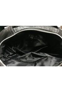 Черный кожаный мужской рюкзак M864A