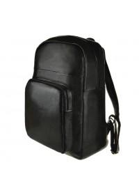 Мужской рюкзак кожаный сумка черного цвета M8685A