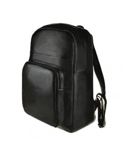 Фотография Мужской рюкзак кожаный сумка черного цвета M8685A