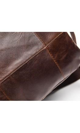 Сумка коричневая мужская с ручкой для руки M8870C