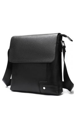 Черная кожаная сумка на плечо M8957A