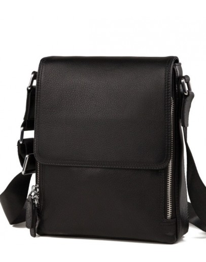 Фотография Мужская черная кожаная сумка, на плечо M899-1A