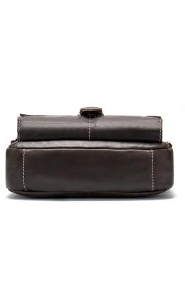 Мужская коричневая кожаная сумка через плечо M9040C-2