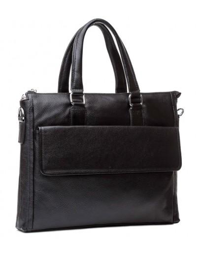 Фотография Черная сумка кожаная для ноутбука M9805-3A