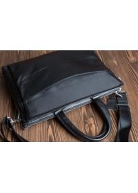 Черная сумка кожаная для ноутбука M9805-3A