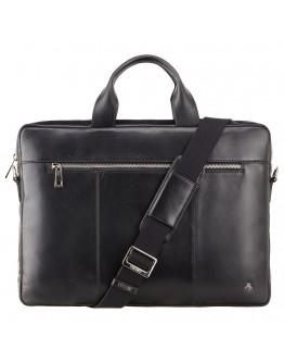 Черная деловая кожаная сумка Visconti ML28 (Black)