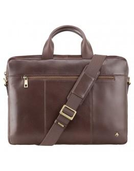 Коричневая кожаная деловая сумка Visconti ML28 (Brown)