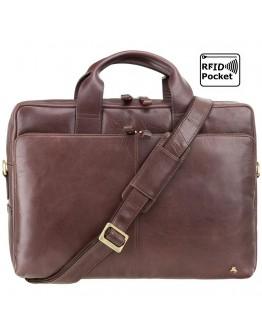 Коричневый кожаный мягкий портфель Visconti ML31 (Brown)