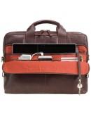 Фотография Коричневый кожаный мягкий портфель Visconti ML31 (Brown)