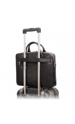 Деловая черная сумка Visconti ML34 Victor (Black)