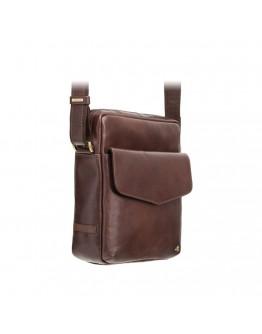 Коричневая мужская кожаная сумка ML36 - Vesper A5 (Brown)