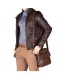 Фотография Коричневая мужская кожаная сумка ML36 - Vesper A5 (Brown)
