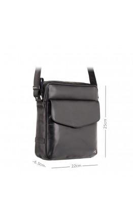 Черная мужская кожаная сумка Visconti ML36 Vesper A5 (Black)