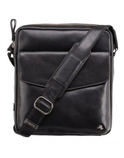 Фотография Черная мужская кожаная сумка Visconti ML36 Vesper A5 (Black)