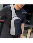 Фотография Серая сумка на плечо Mark Ryden Minibobby MR5898 gray