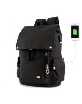 Черный тканевый рюкзак MARK RYDEN FLEXY MR5923 BLACK