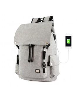 Ceрый тканевый рюкзак MARK RYDEN FLEXY MR5923 GRAY